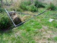3m wide aluminium pole gate for sale. 1m high.