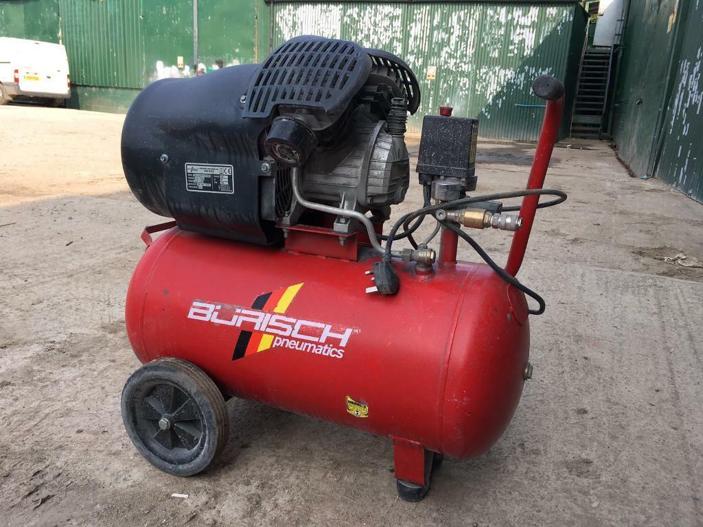Burisch 50L air compressor   in Wimborne, Dorset   Gumtree