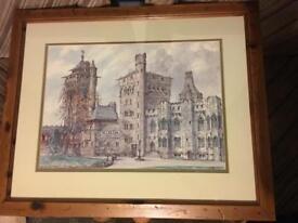 Castle artwork framed