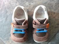 Clarks Brown Leather Shoes, Size 3 ½ F