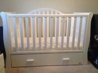 Sleigh Cot with storage, mattress and more