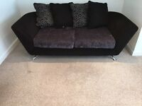 Modern 3 seater sofa with footstool