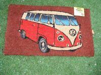VW. Campervan - Door Mat. *New-Unwanted Gift. *Volkswagon - Transporter/Camper Van.*