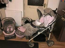 Complete Chicco Pushchair Travel System 3 in 1