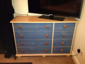 Childrens Furniture Wardrobe + Chest of Drawers