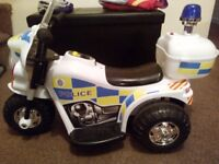 Electric Police Bike with Dress Up Police Outfit