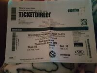 2x unibet premier league darts tickets leeds