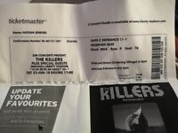 4 KILLERS tickets for sale. Concert in Swansea Saturday 23 June, £50.00 each.