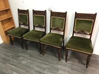 Four Edwardian chairs