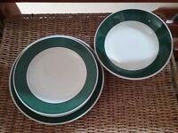 Dinner set + 4 extra large plates