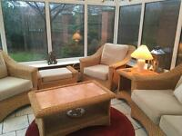 6pcs conservatory set / rattan sofa, chair table etc