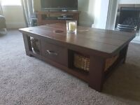 Matching Next coffee table and TV unit