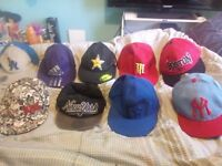 Various snapbacks and caps