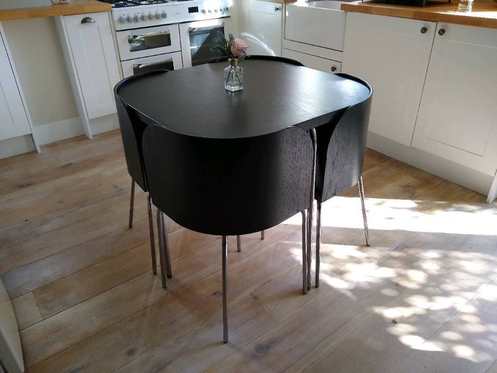 Ikea Fusion Compact Small Dining Table And Chairs In