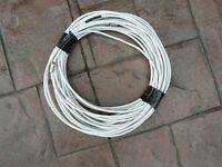 25 metres used co-ax cable with connectors