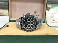 BrandNew Rolex Daytona Black Face Automatic sweeping movement
