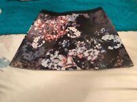 Topshop floral grey skirt size 10
