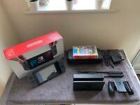 Nintendo Switch (Unpatched/Grey/256GB) Bundle