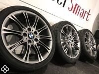"18"" GENUINE BMW ALLOY WHEELS WITH TYRES - GRAPHITE GREY"