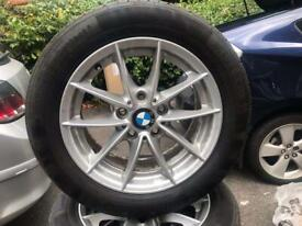 Original 4x BMW series 1 ( before 2009) 205 /55 /R16 Alloy Wheel with Continental Tyers