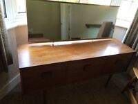 DRESSING TABLE, OTTOMAN & HEADBOARD WITH 2 SIDE DRAWERS THAT WILL FIT SINGLE OR SMALLER BED