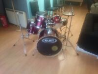 Drum Kit 5 piece MAPEX kit with stands, seat and HiHat