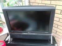"""32"""" HD LCD Wood Effect Lounge television with stand"""