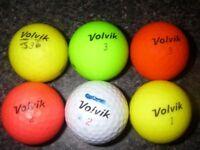 6 Volvik golf balls