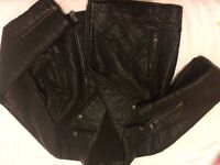leather look jacket, black faux leather jacket from River Island size 16