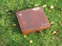 "Terracotta Garden Tiles, Victorian (probably genuine), 9.75"" square by 1.75"" thick, qty 59"