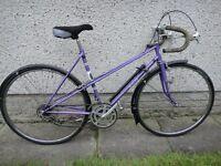 Viking ladies vintage retro racer road bike, 26 inch wheels, 10 gears, 21 inch frame, purple