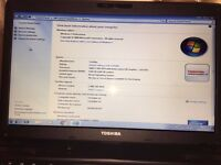 Black Toshiba Satellite *Mint Condition*