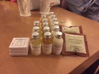 20x Organic Damana Aloe Vera Travel Minis Shampoo Shower gel Soap Lotion Bath Salt