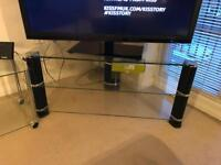 Glass tv stand. Up to 60""