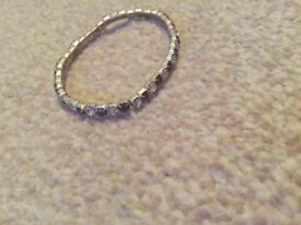 Black and clear stones bracelet