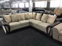Corner sofa Fabric All cushions included
