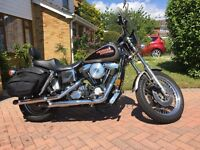 Harley Davidson 1340 Low Rider Convertible - 1997, 6800 miles, silver/black. Same owner for 16 years
