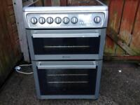Silver 60cm Hotpoint Ceramic Cooker
