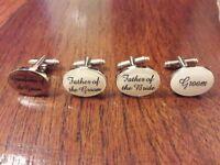 Ivory Wedding Cufflinks (not used)