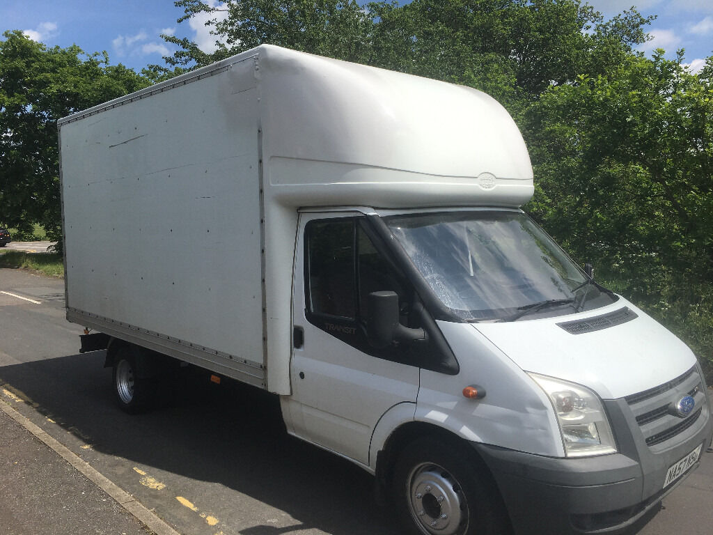 FORD TRANSIT LUTON 2.4TDCI - 57 REG - 6 SPEED - LWB - 13FT BODY - DRIVES PERFECTLY - NO VAT!!!!!!!!