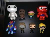 Bundle of various loose funko pop figures