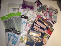 Various Craft Goods (dies/embossing folders, decoupage, magazines and CD