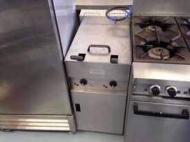 FRYER KITCHEN DINER CANTEEN RESTAURANT CATERING CHIPS FASTFOOD SHOP DOUBLE TANK COMMERCIAL NUGGETS