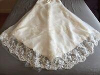 Size 10 Ivory Lace Bandeau Wedding Dress. Lace up back. Never worn