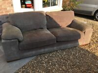 FREE Large 2/3 seater sofa, good condition, oatmeal coloured fabric covering
