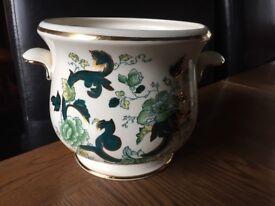 Masons ironstone Chartreuse flower pot