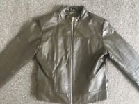 Womens real leather jacket