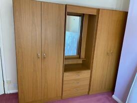 Triple wardrobe £60