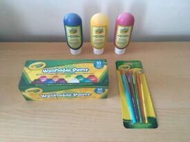 Bundle Of paints paintbrushes Crayola