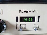 Cream rangemaster professional + 100cm dual fuel range cooker as new